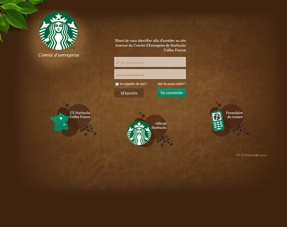 Design du site internet du CE Starbucks